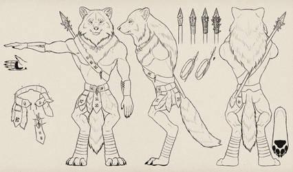 Design a Model Sheet of a Werewolf Warrior by MonikaZagrobelna