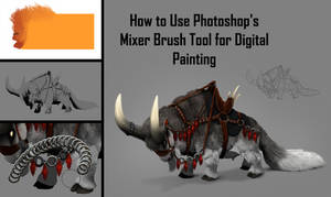 How to Use Mixer Brush Tool for Digital Painting