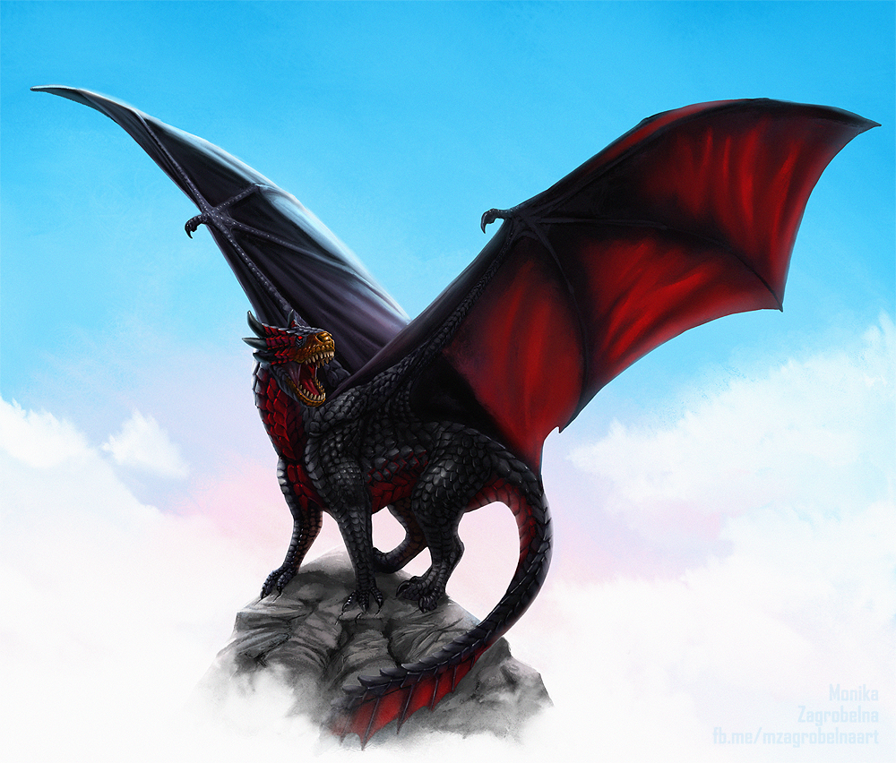 Photo Collection Black Dragon Red Wings