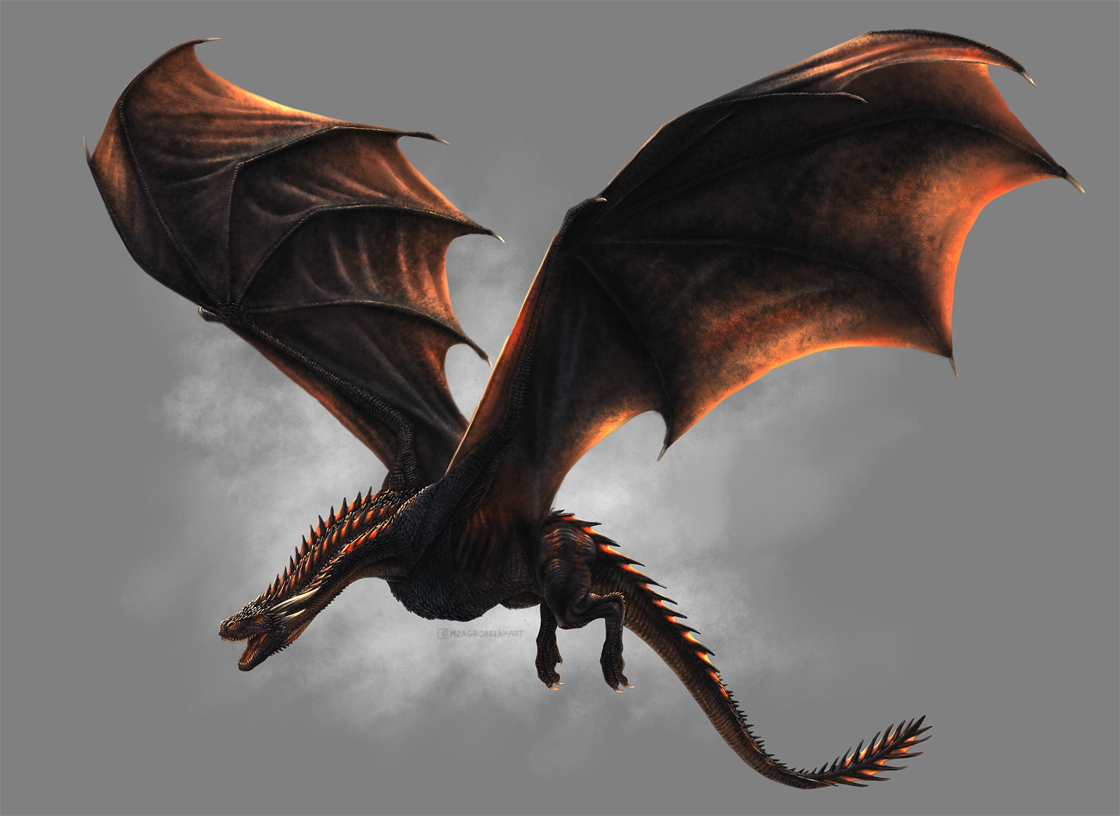 How to Paint Drogon in SketchBook Pro by MonikaZagrobelna on