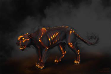 Demon Panther by MonikaZagrobelna