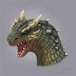 Dragon head by MonikaZagrobelna