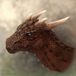 Red dragon head (with video) by MonikaZagrobelna