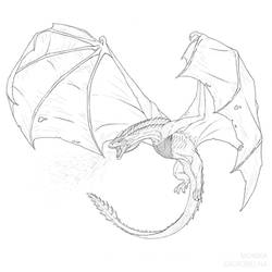 How to Draw an Ice Dragon from Game of Thrones by MonikaZagrobelna