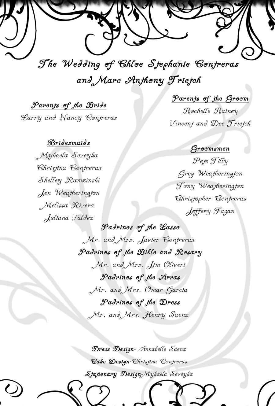 free template for wedding program vatoz atozdevelopment co