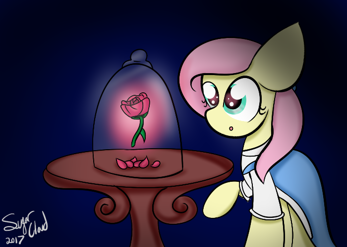 Beauty and the Beast The Rose (Fluttershy)  by SugarCloud12