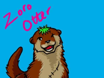 Zoro Otter by Crysomandiaz