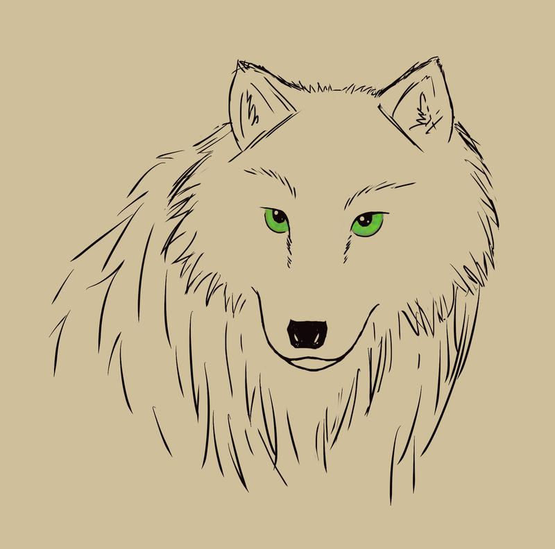 The Wolf with Green Eyes by Crysomandiaz