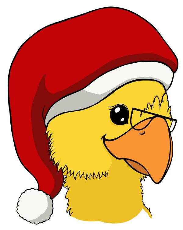 Christmas Chocobo by Crysomandiaz