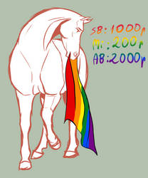 Pride month horse YHH [OPEN] by Humasah