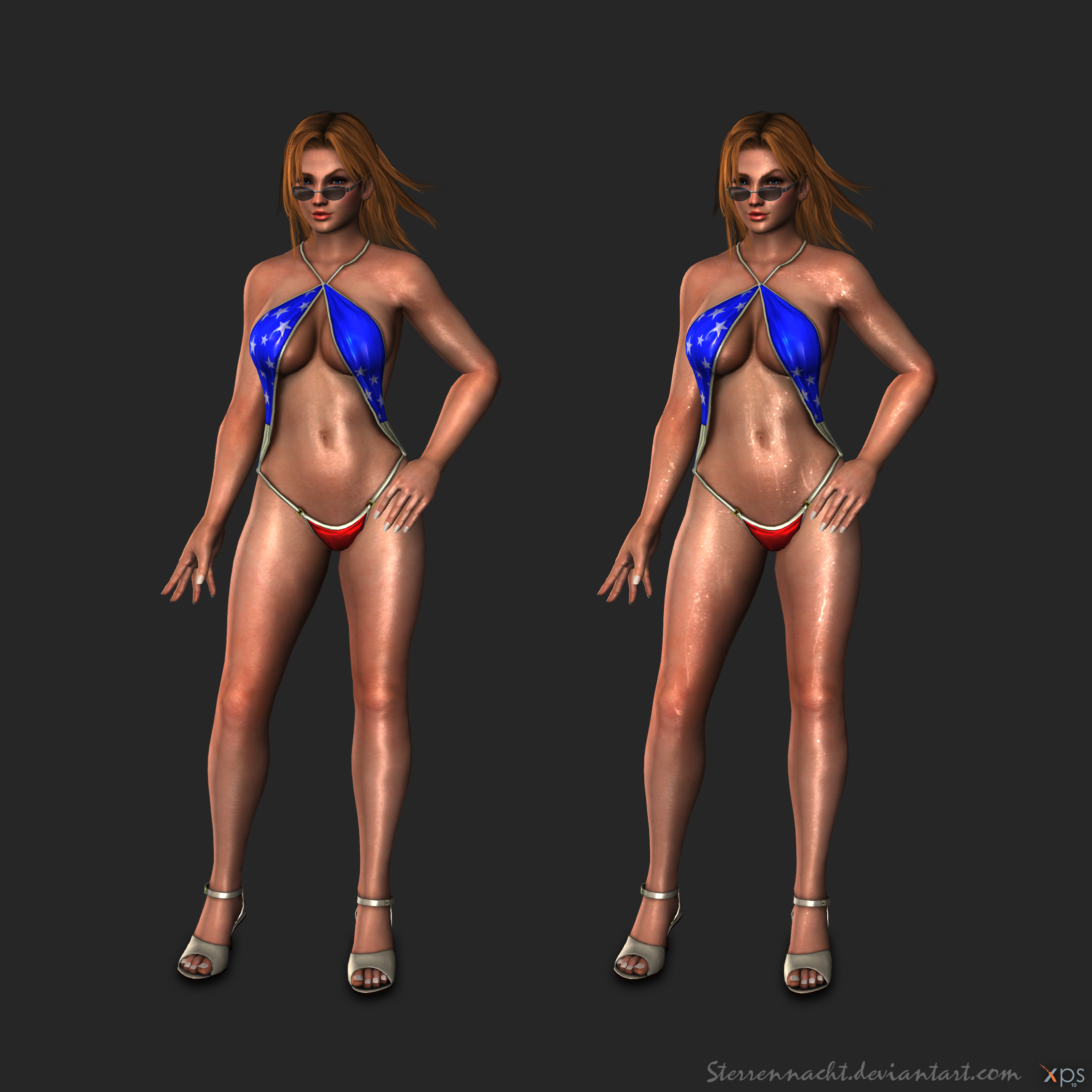 DOA5 - Tina Armstrong (bathingsuit) by Sterrennacht