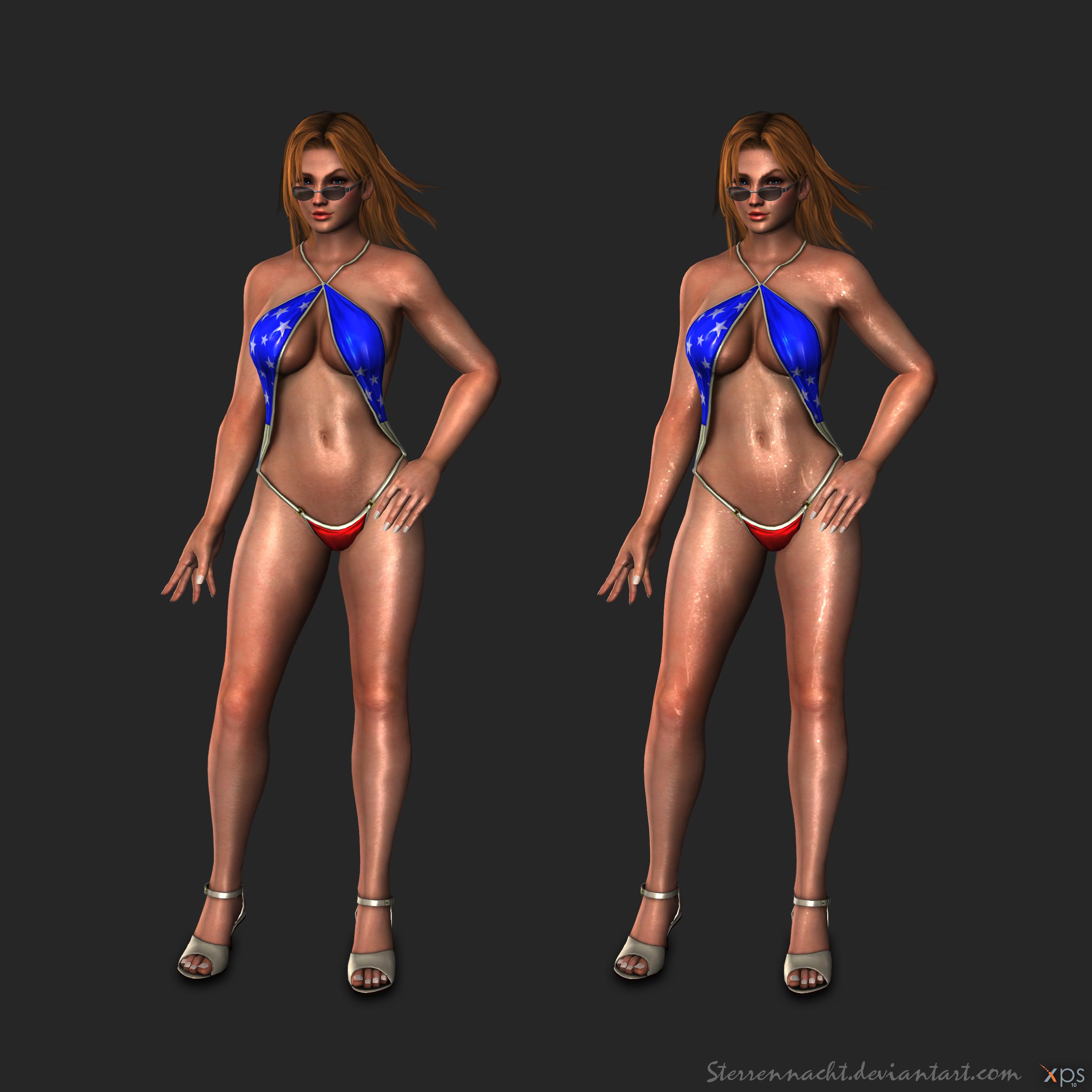 DOA5 - Tina Armstrong (bathingsuit) by Sterrennacht