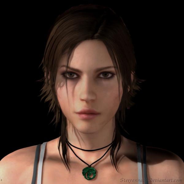 Lara Croft portrait (3D) by Sterrennacht