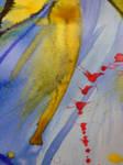 Close-up Numero Uno of Watercolour