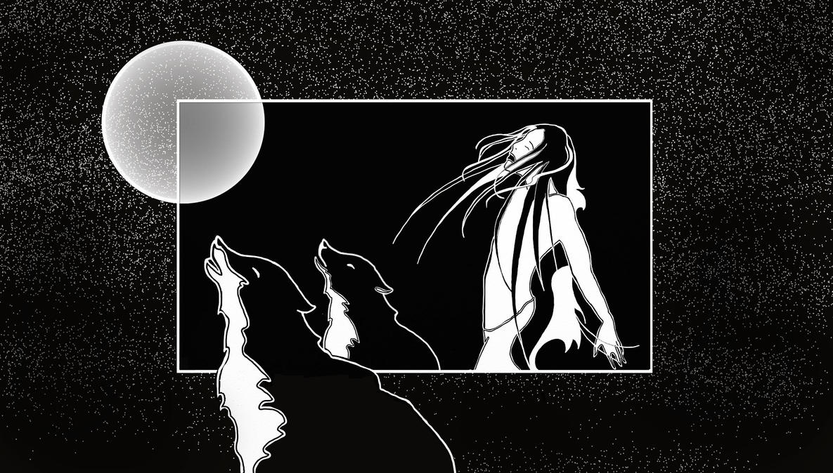 With Wolves by LodeinArt