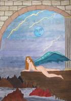 Moon Angel by LodeinArt