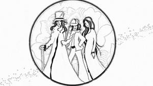 The Inner Circle, black and white version by LodeinArt