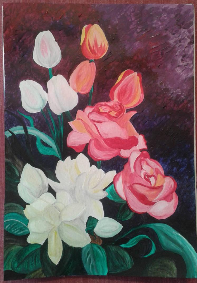 Jasmine, Roses and Tulips