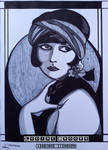 Inktober 19Oct20, Louise Brooks by LodeinArt