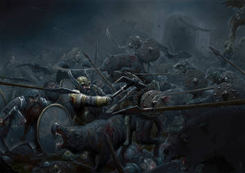 The Battle of the Five Armies by Ozakuya