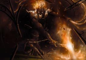 La defensa de Gondolin / The defense of Gondolin by Ozakuya