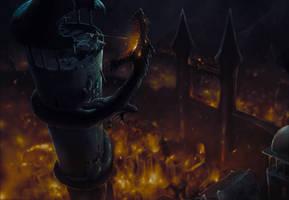 The Fall of Gondolin / La caida de Gondolin-Turgon by Ozakuya