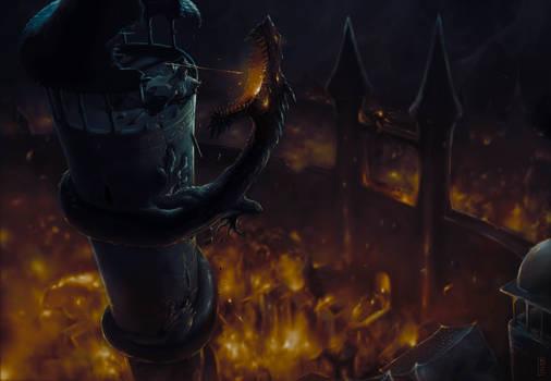 The Fall of Gondolin / La caida de Gondolin-Turgon