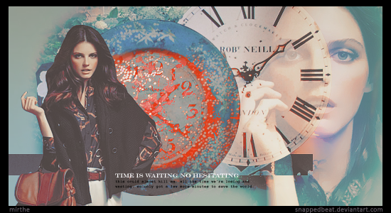 time is waiting, no hesitating by snappedbeat