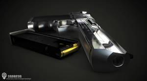 Desert Eagle 3D Render 2