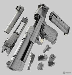 Desert Eagle 3D Model by Beppe87 on DeviantArt