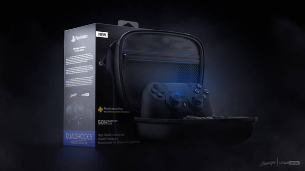 Dualshock 5 Concept with Carry Case