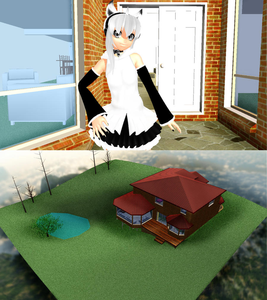 MMD house + DL by nekovampire95
