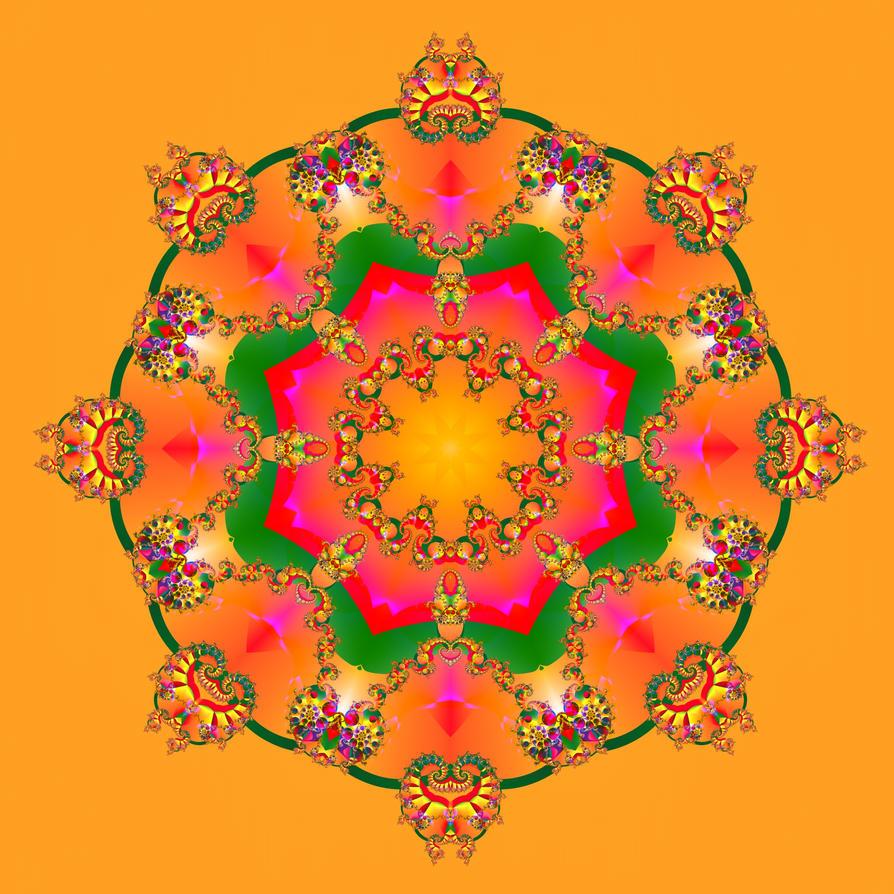 Countdown to Xmas: Mandala 4 by seven-s