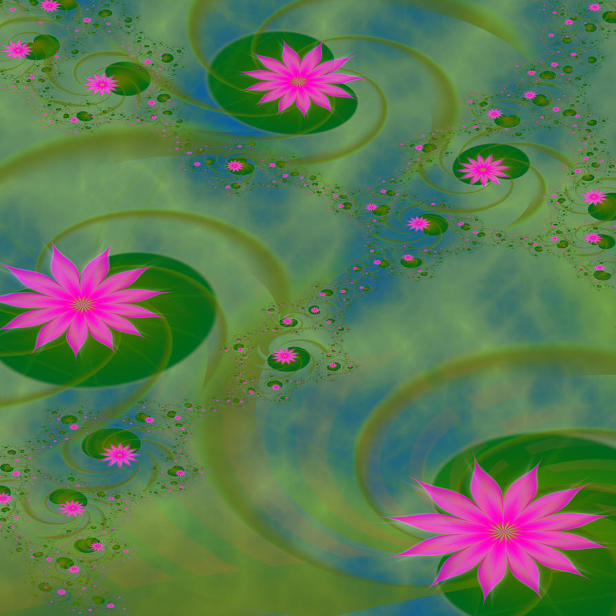 Fractal Water Lilies by seven-s