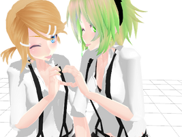 [MMD] Rin and Gumi by FakeShota