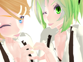 [MMD] Rin and Gumi 2 by FakeShota
