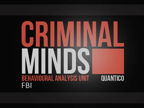 Criminal Minds Logo with Bright Spot