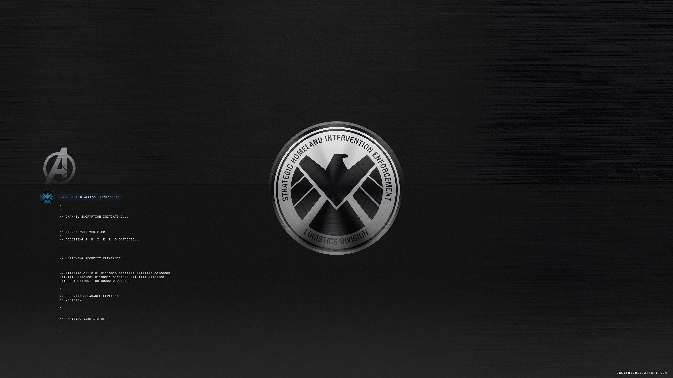 Shield Login + Avengers