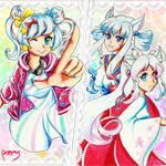 Nanasaki Nicole and the Yuuki Sisters