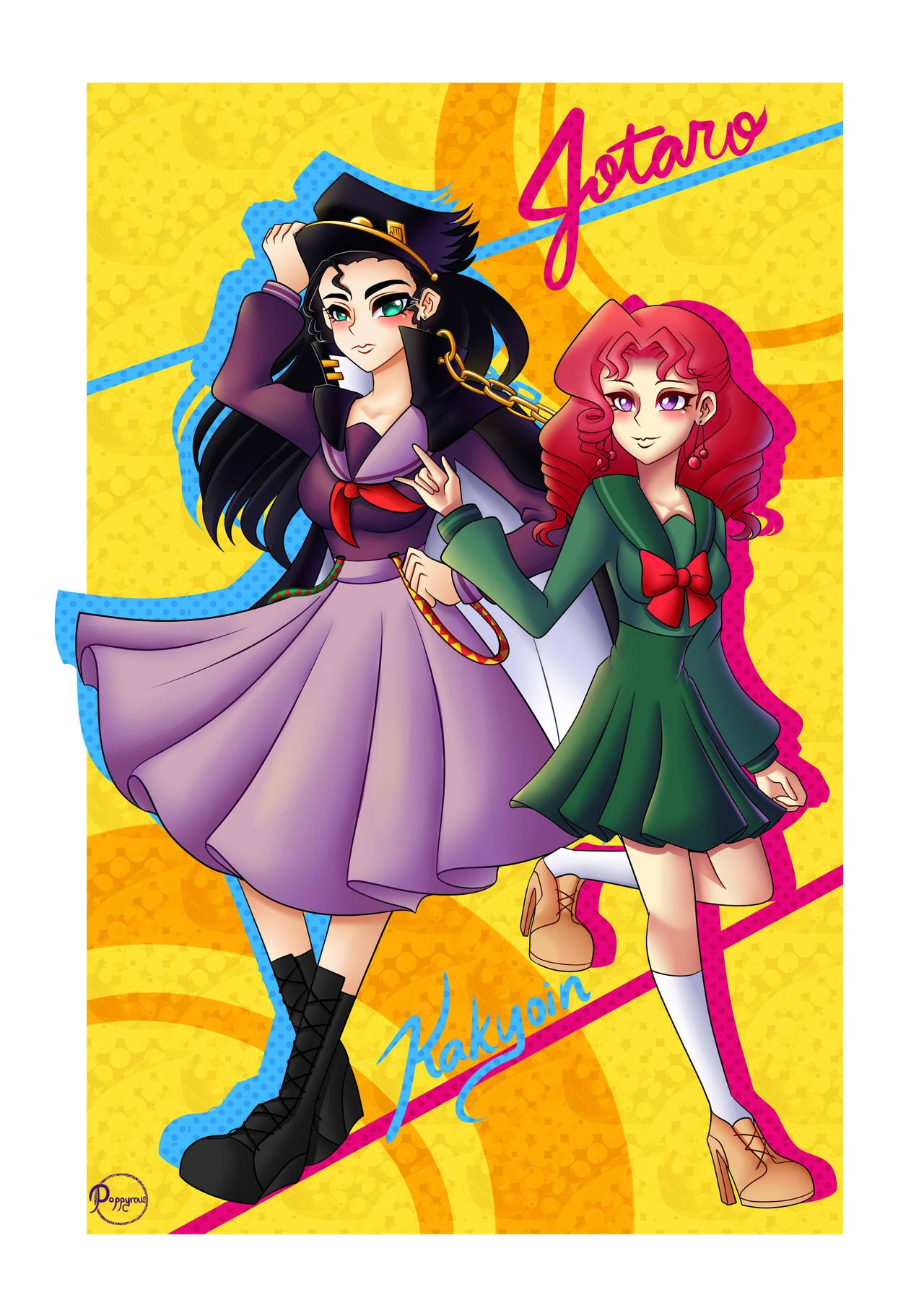 Fem!Jotaro and Kakyoin