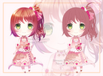 Strawberry-Chocolate Cake Adoptable CLOSED by Nanami-Yukari