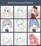 Kuri X Nana X Frappe Switcharound Meme by Nanami-Yukari