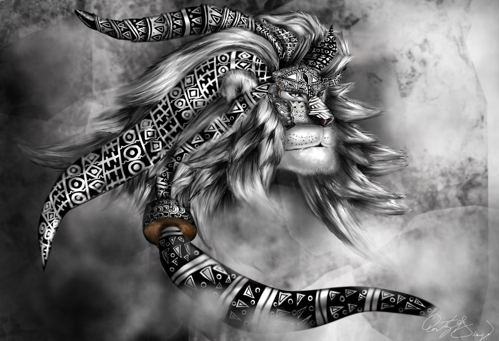 Tribal Lion Spirit by QGApparel on DeviantArt