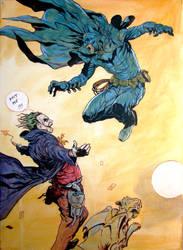 Batman and Joker by olbillyboy