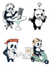 Panda bears by olbillyboy