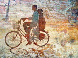 Girls on Bike, Hue by Art-of-Eric-Wayne