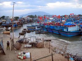 Blue Fishing Boats, Na Trang