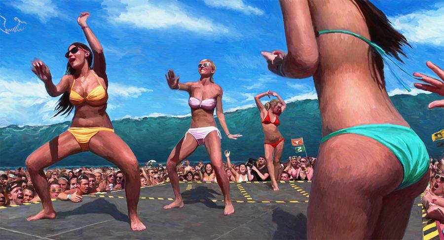 Swell with Bikini Dancing Girls