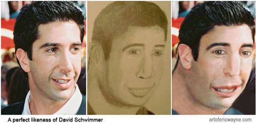 A perfect likeness of David Schwimmer