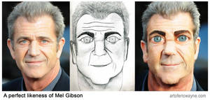 A perfect likeness of Mel Gibson
